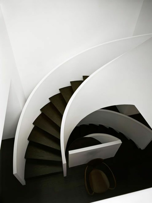 modern-spiral-staircase-design-black-and-white